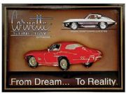 Corvette Sting Ray American Nostalgia Large Framed Art Print Ready To Hang New